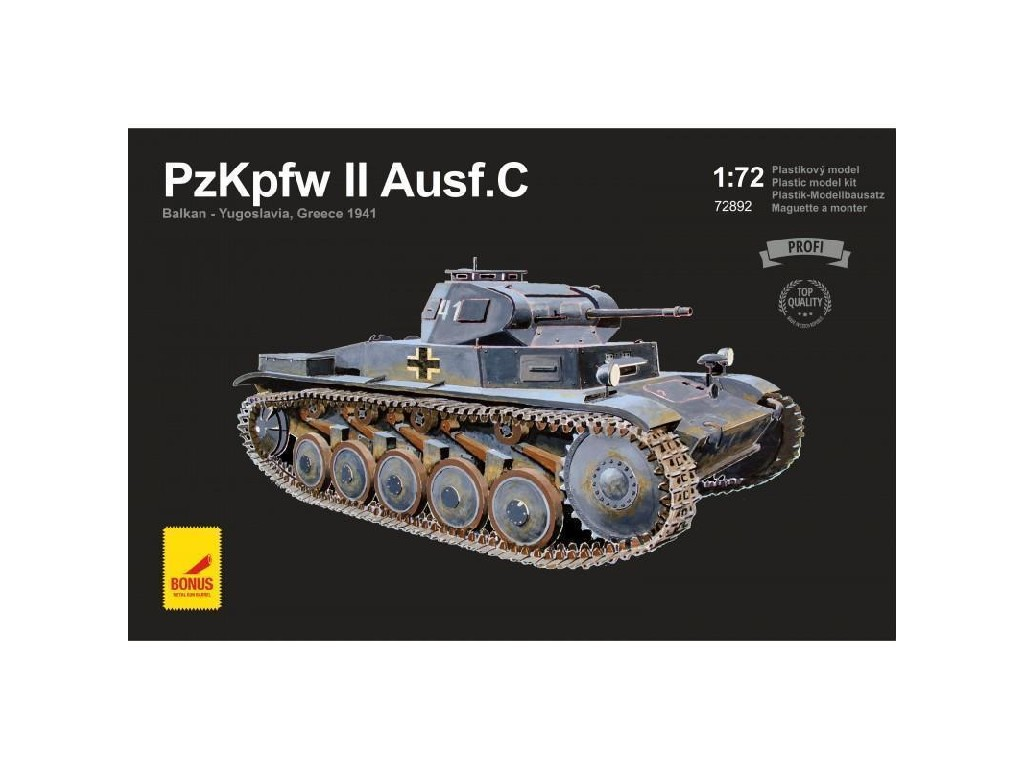 Attack Kits - 72892 - PzKpfw II Ausf.C Balkan - Yugoslavia, Greece 1941 (with 2 metal gun barrels) 1:72