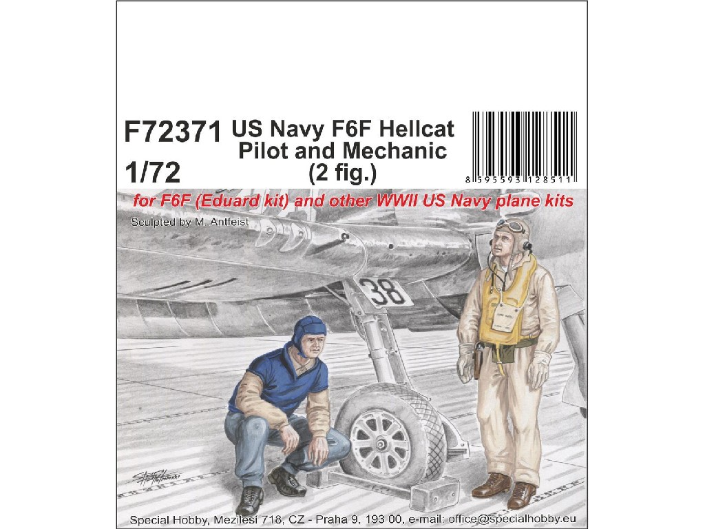 1/72 US Navy F6F Hellcat Pilot and Mechanic - CMK