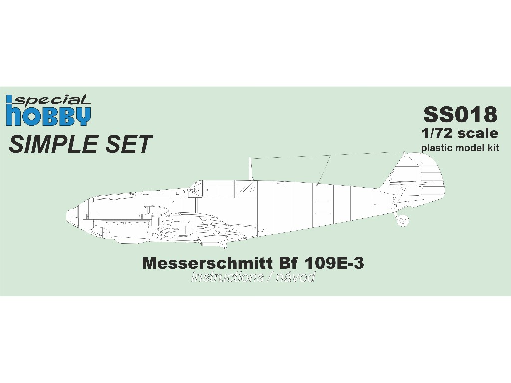 1/72 Messerschmitt Bf 109E-3 / Simple Set