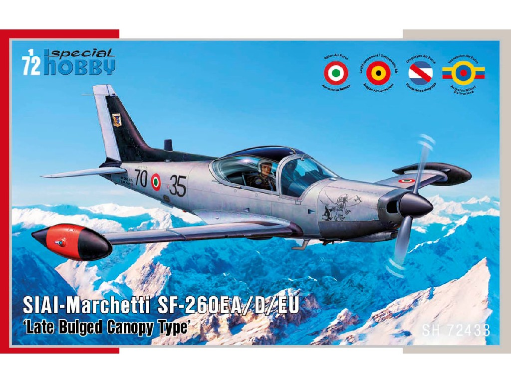 1/72 SIAI-Marchetti SF-260EA/D/W ' Late Bulged Canopy Type' - Special Hobby