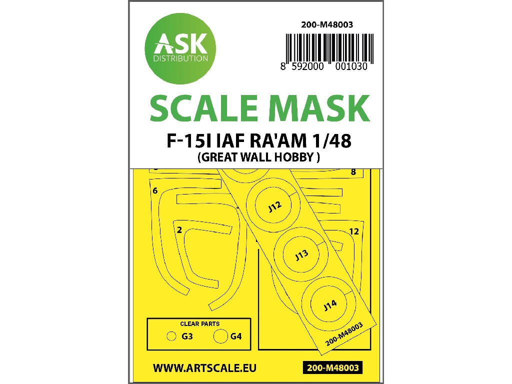 1/48 F-15I Raam painting mask for Great Wall Hobby