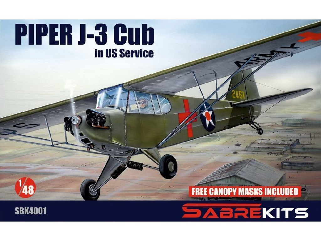 "1/48 Piper J-3 Cub ""In US Service""- Sabre Kits"