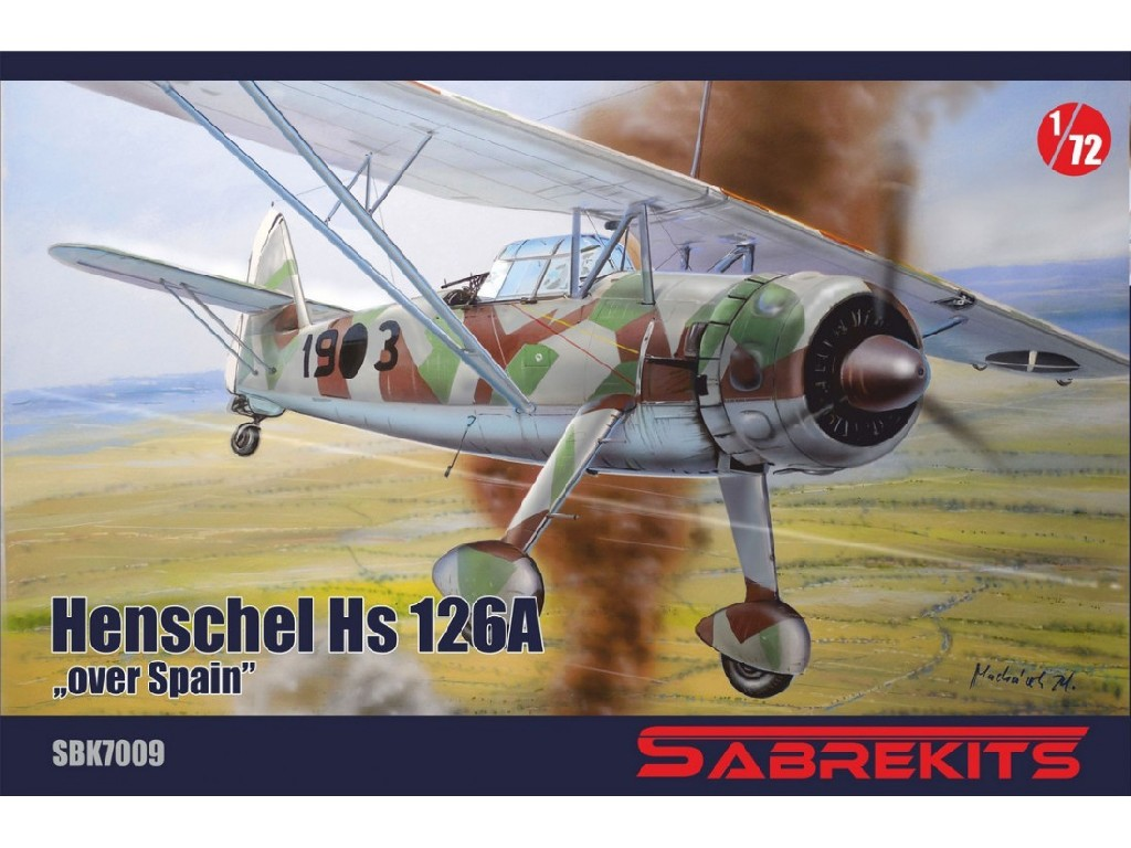 "Sabre Kits - SBK7009 - Hs 126 ""Spain""- Sabre Kits 1:72"
