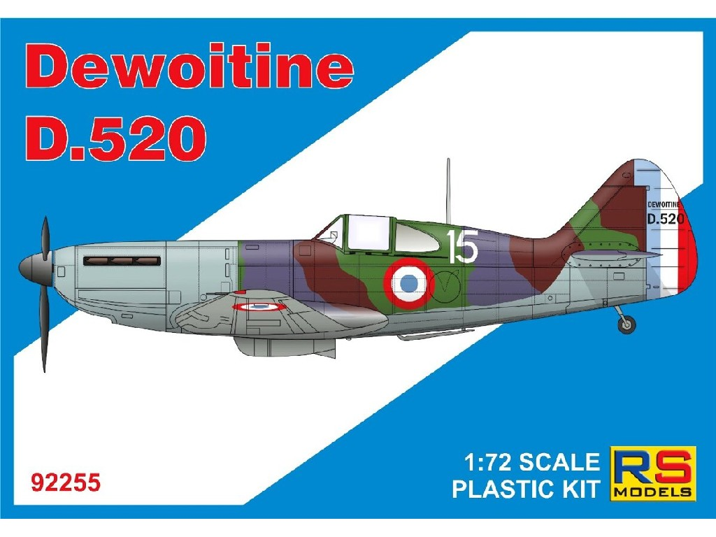 RS Models - 92255 - Dewoitine D.520 1:72