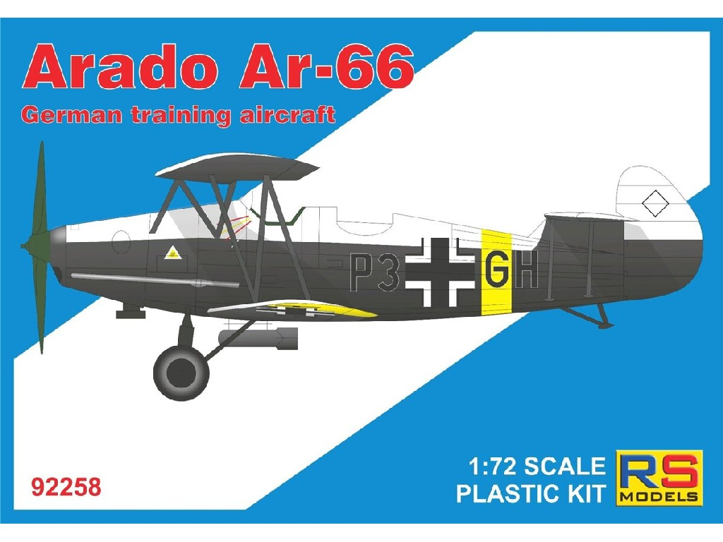 RS Models - 92258 - Arado Ar-66 1:72