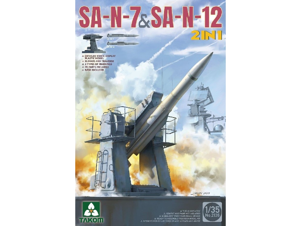 1/35 SA-N-7 + SA-N-12 (2-in-1 Kit) - Takom