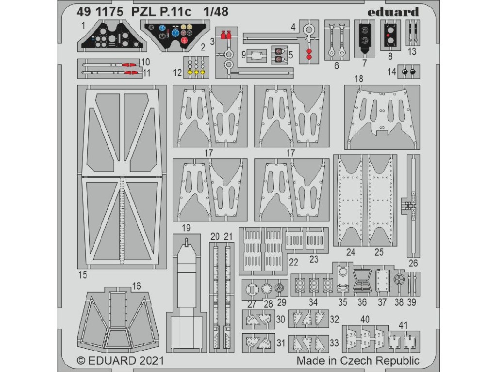 Eduard - 491175 - PZL P.11c for ARMA HOBBY kit 1:48