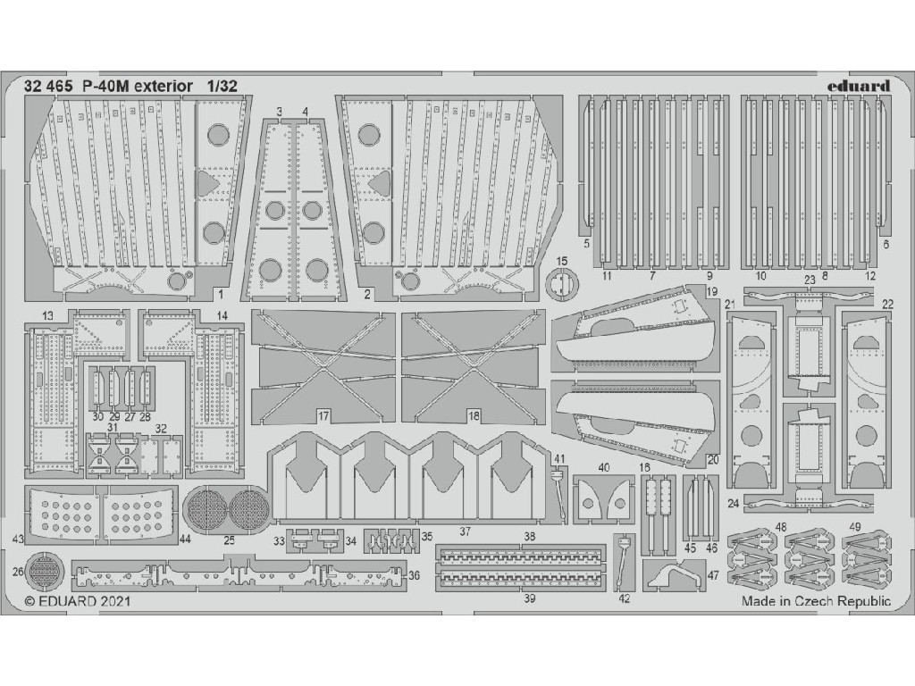 1/32 P-40M exterior for TRUMPETER kit