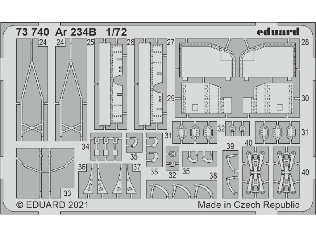 Eduard - 73740 - Ar 234B for HOBBY 2000 / Dragon kit 1:72