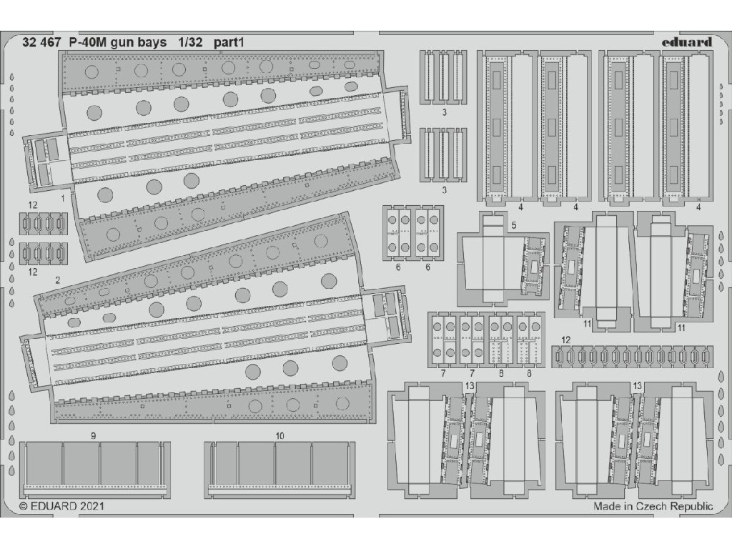 Eduard - 32467 - P-40M gun bays for TRUMPETER kit 1:32