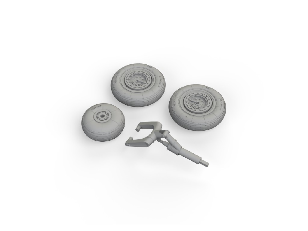 Eduard - 648622 - MiG-15 wheels for BRONCO / HOBBY 2000 kit 1:48