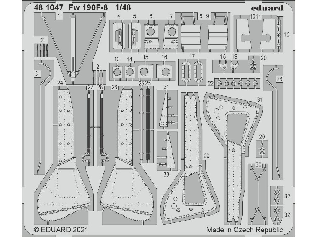 Eduard - 481047 - Fw 190F-8 for Eduard kit 1:48