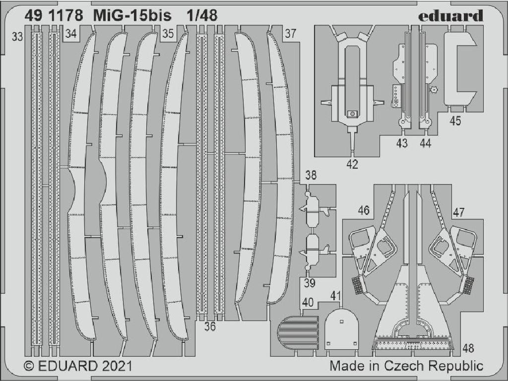 Eduard - 491178 - MiG-15bis for BRONCO / HOBBY 2000 kit 1:48
