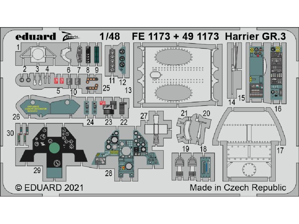 Eduard - FE1173 - Harrier GR.3 for KINETIC kit 1:48
