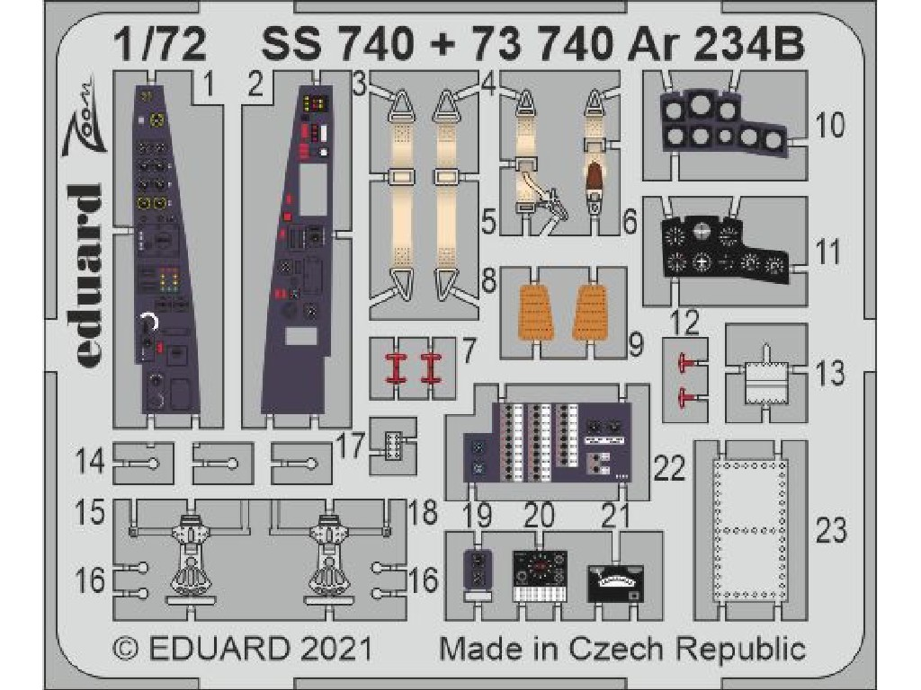 Eduard - SS740 - Ar 234B for HOBBY 2000 / Dragon kit 1:72