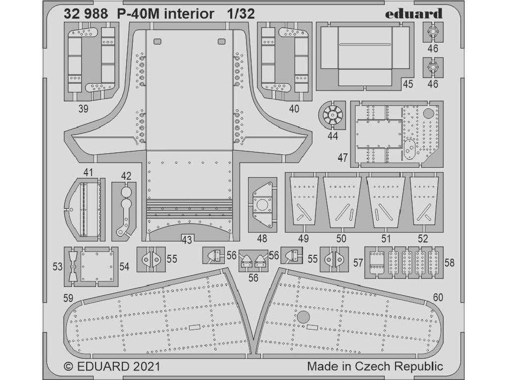 Eduard - 32988 - P-40M interior for TRUMPETER kit 1:32