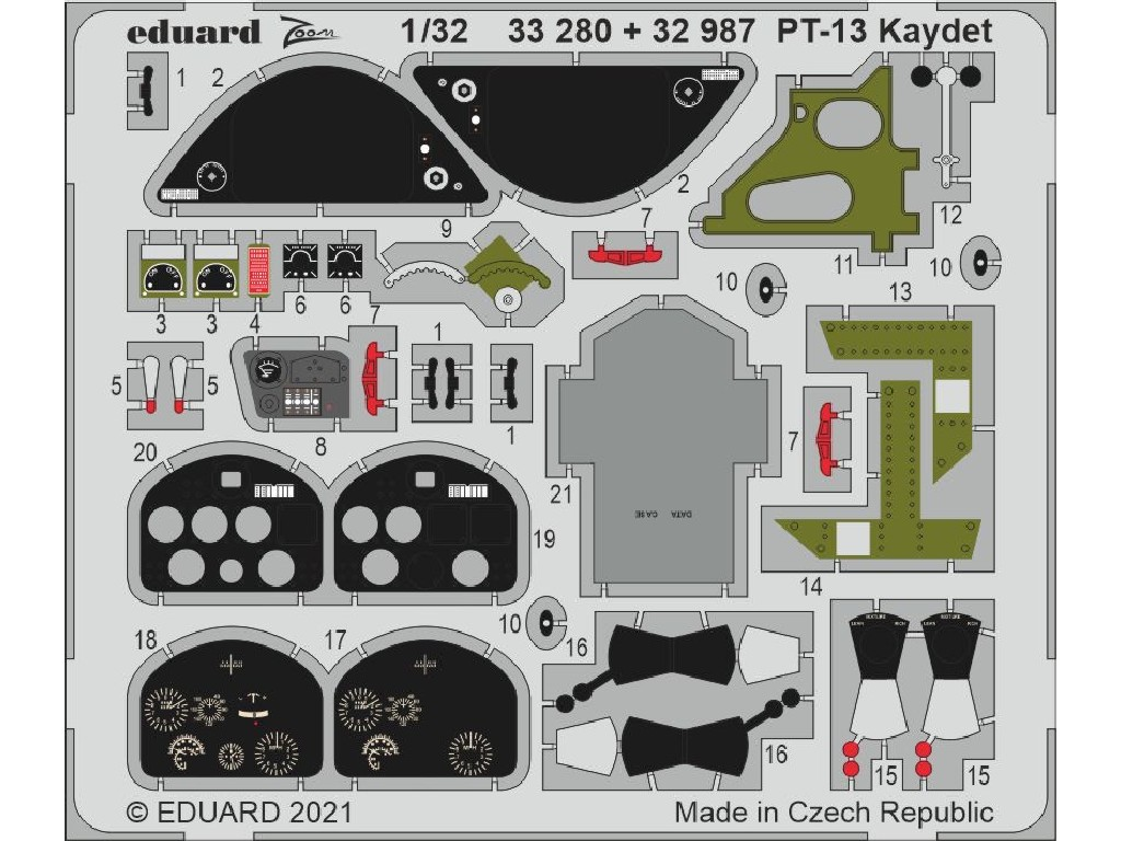 Eduard - 33280 - PT-13 Kaydet for RODEN kit 1:32