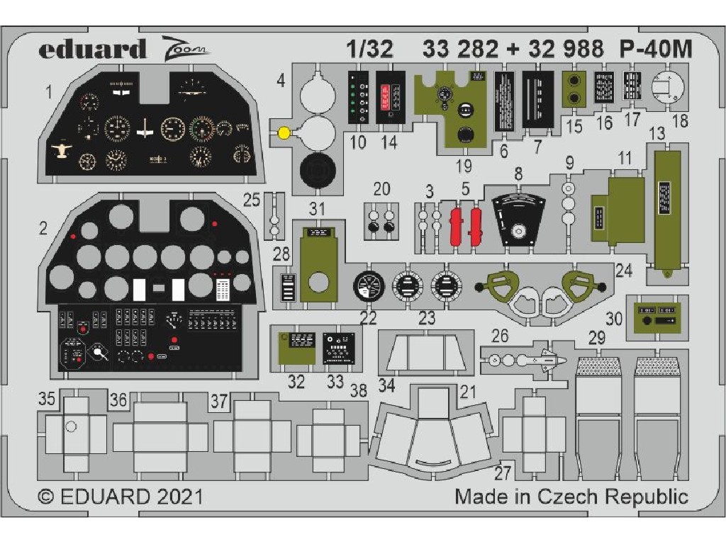 1/32 P-40M for TRUMPETER kit
