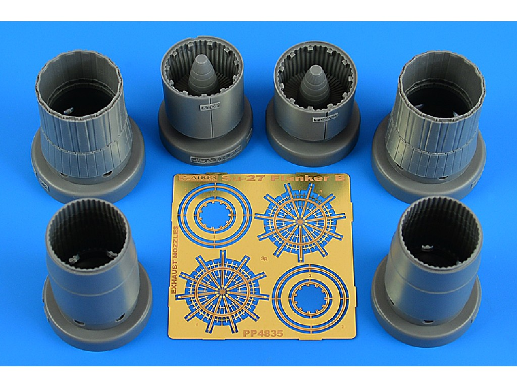 Aires - 4835 - Su-27 Flanker B exhaust nozzles for KITTY HAWK kit 1:48