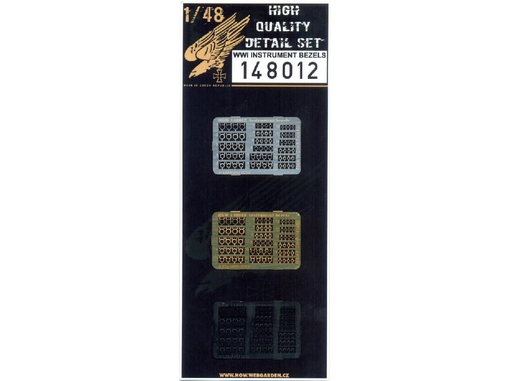 1/48 WWI Instrument Bezels - Photo-etched Sets  - designed for various brands
