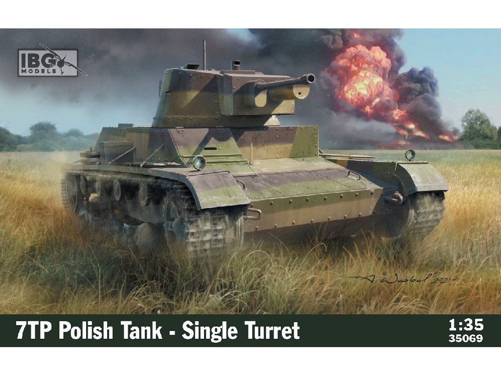 IBG Models - 35069 - 7TP Polish Tank - Single Turret - IBG 1:35