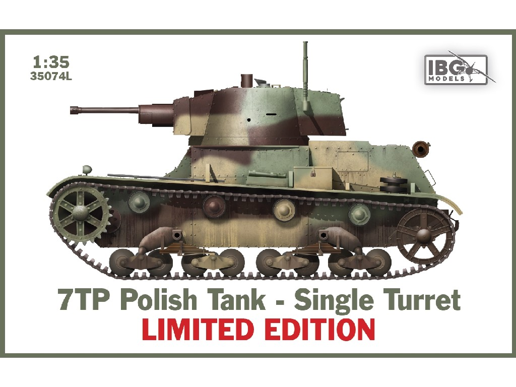 IBG Models - 35074L - 7TP Polish Tank - Single Turret LIMITED EDITION - IBG 1:35