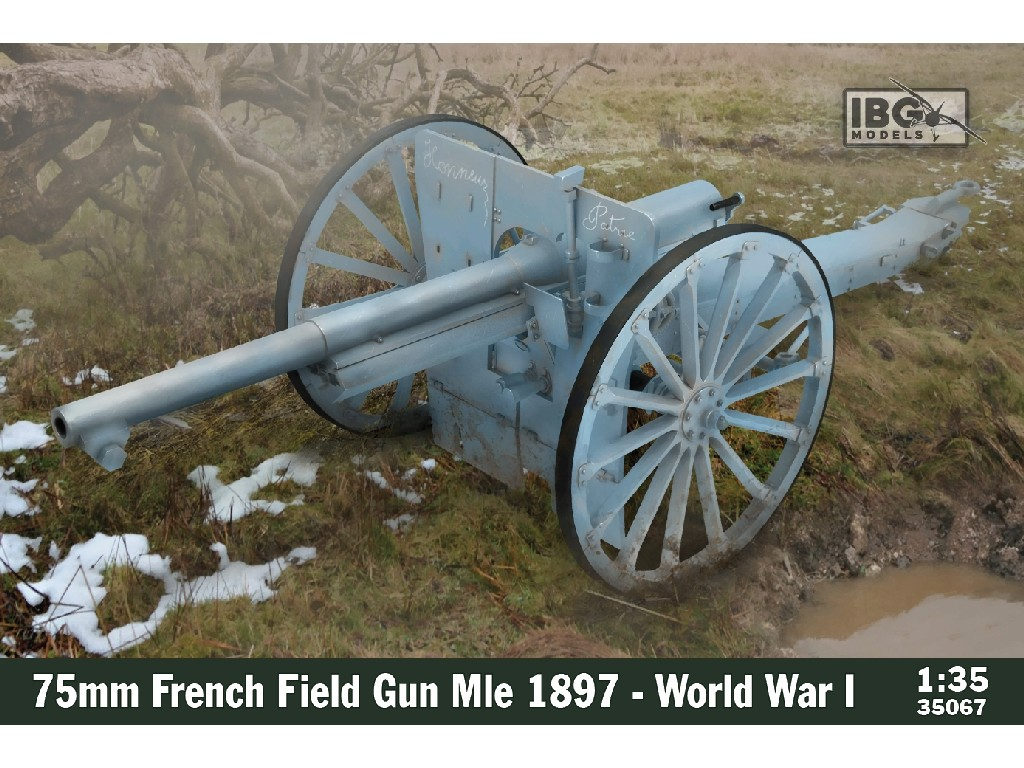 IBG Models - 35067 - 75mm French Field Gun Mle 1897 - World War I - IBG 1:35