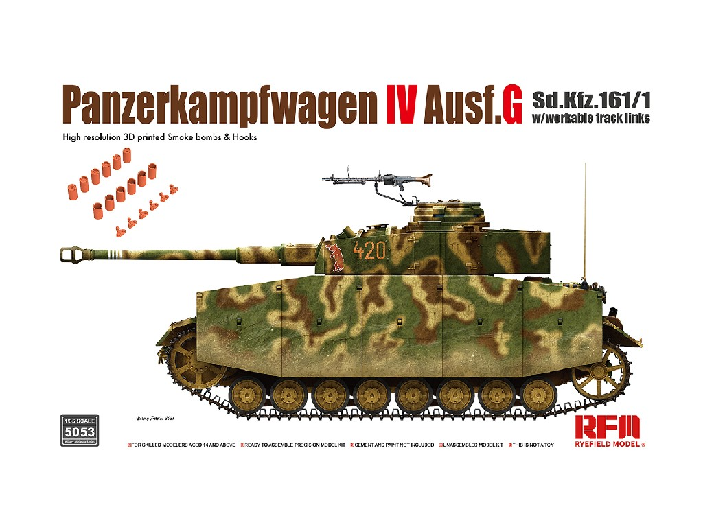1/35 Pz.kpfw.IV Ausf.G without interior  - RFM