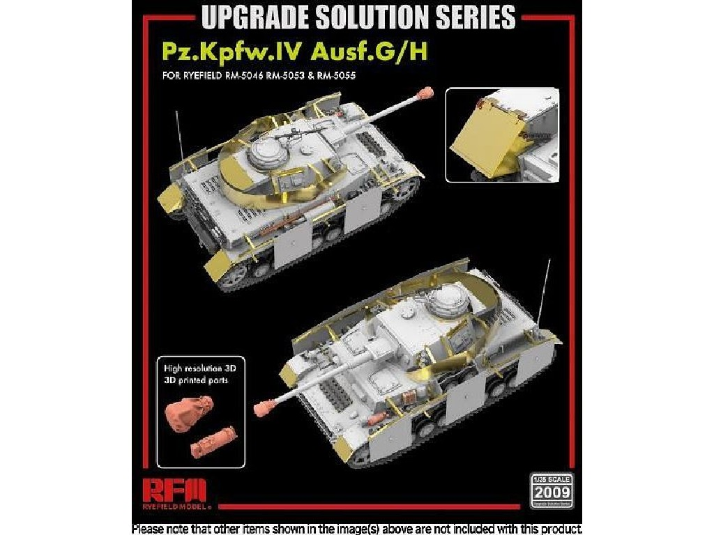 1/35 Upgrade set for 5053 + 5055 Pz.IV Ausf.G/H - RFM