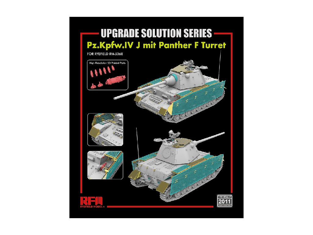 Ryefield Model - 2011 - Upgrade set for 5068 Pz.Kpfw.IV J mit Panther F Turret - 1:35