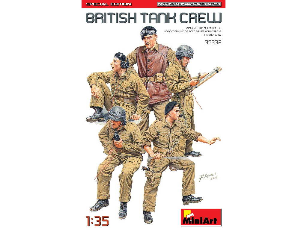 1/35 British Tank Crew. Special Edition - Miniart