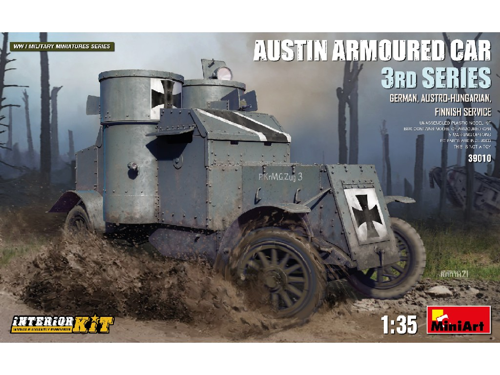 1/35 Austin Armoured Car 3rd Series: German, Austro-Hungarian, Finnish Service. Interior K - Miniart