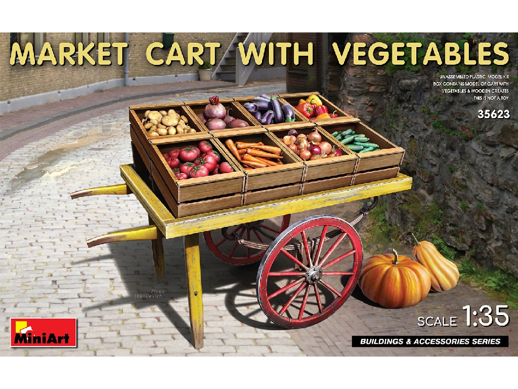 1/35 Market Cart with Vegetables - Miniart