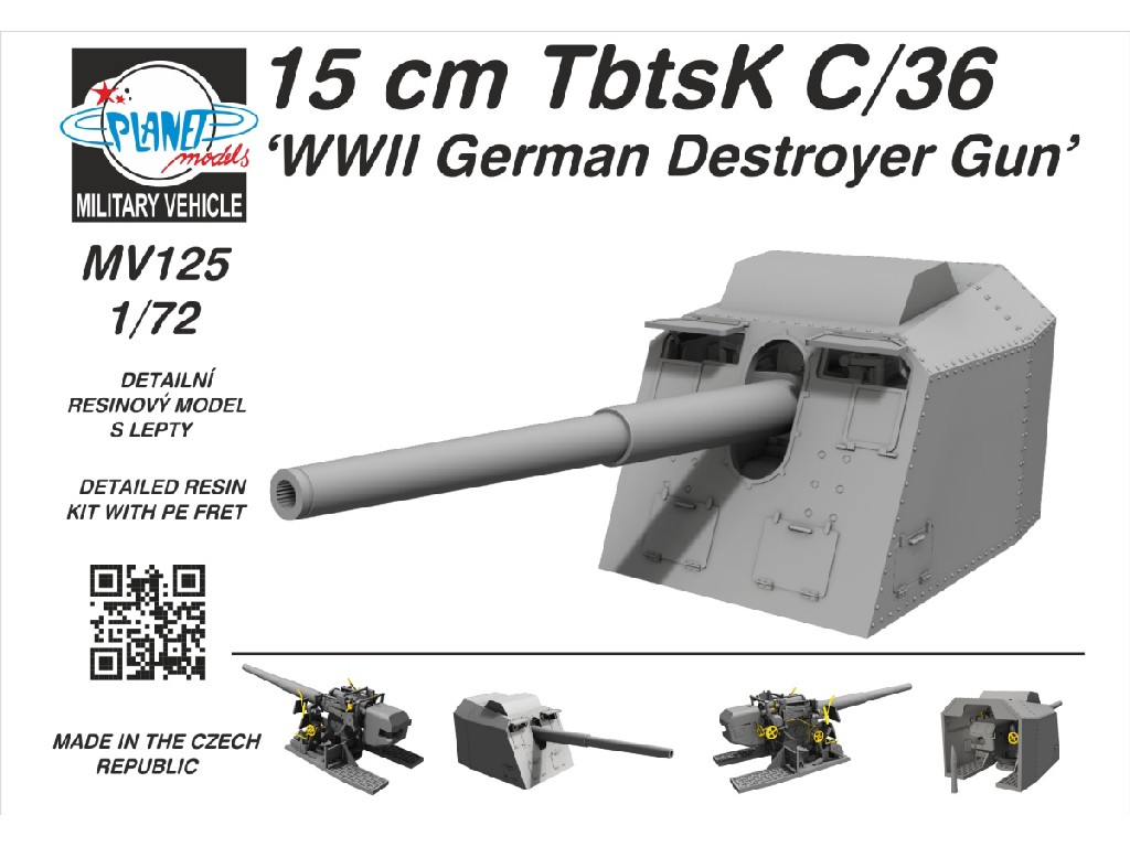 1/72 15 cm TbtsK C/36 'WWII German Destroyer Gun'