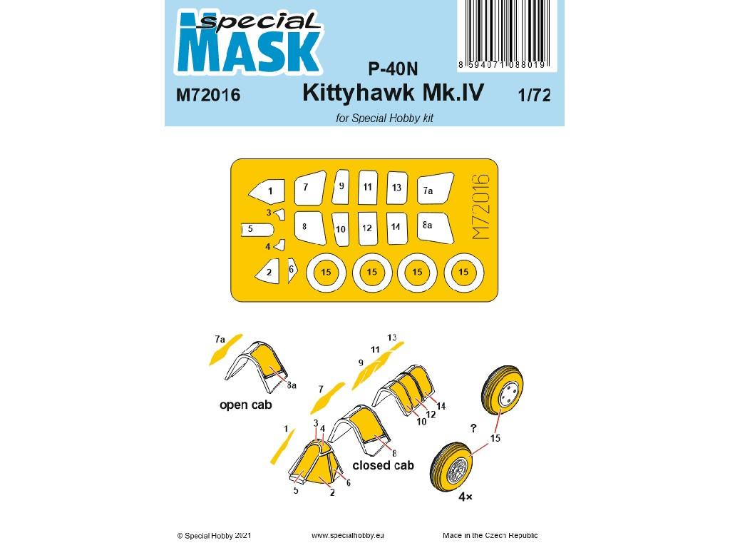 1/72 P-40N/Kittyhawk Mk.IV Mask