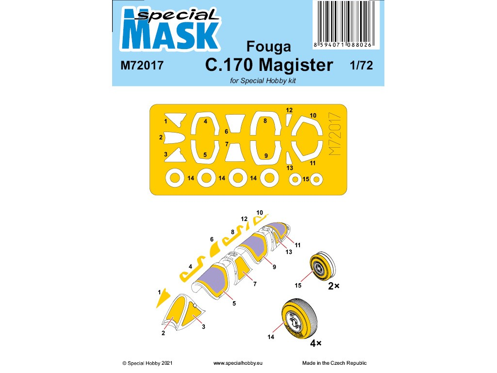 1/72 Fouga C.170 Magister  Mask