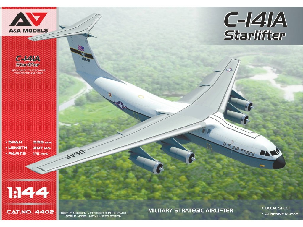1/144 C-141A military strategic airlifter ( 2 camos/Vietnam war)