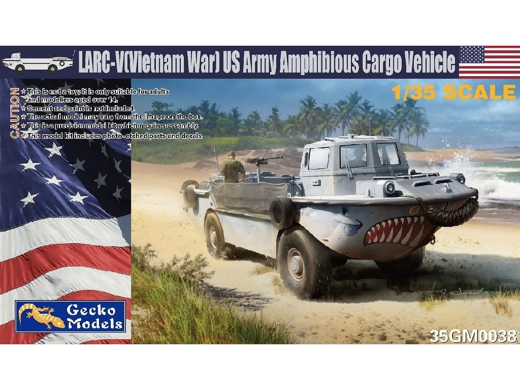 1/35 LARC-V (Vietnam War) US Army Amphibious Cargo Vehicle - Gecko Models