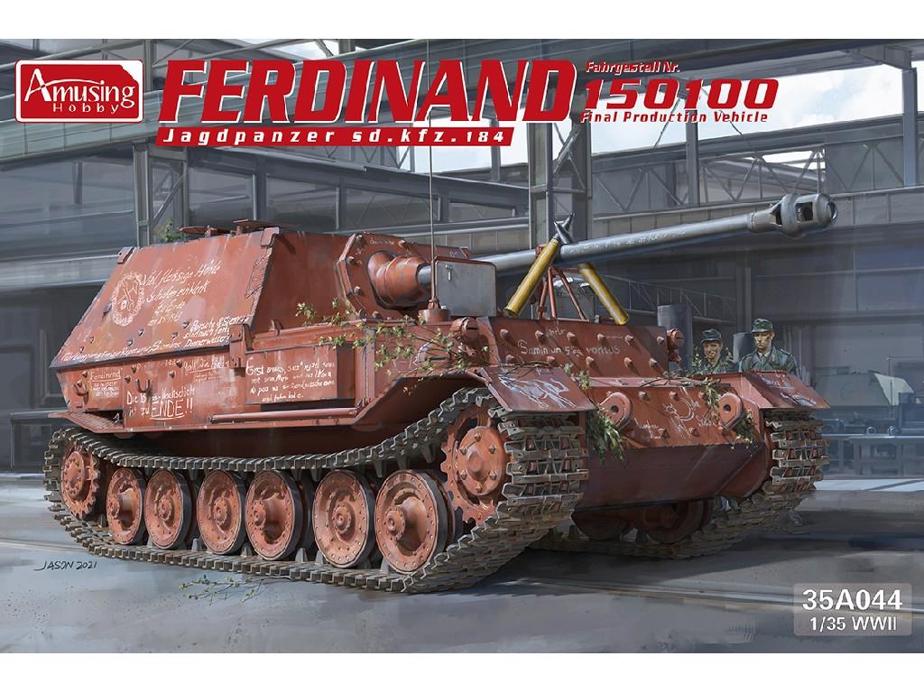 1/35 Ferdinand Jagdpanzer Sd.kfz.184 No 15100 - Amusing Hobby