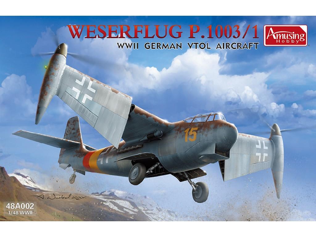 1/48 Weserflug P.1003/1 WWII German VTOL aircraft - Amusing Hobby