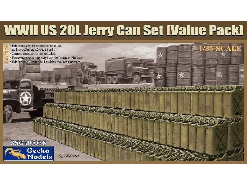 1/35 WWII US 20L Jerry Can Set (Value Pack) - Gecko Models