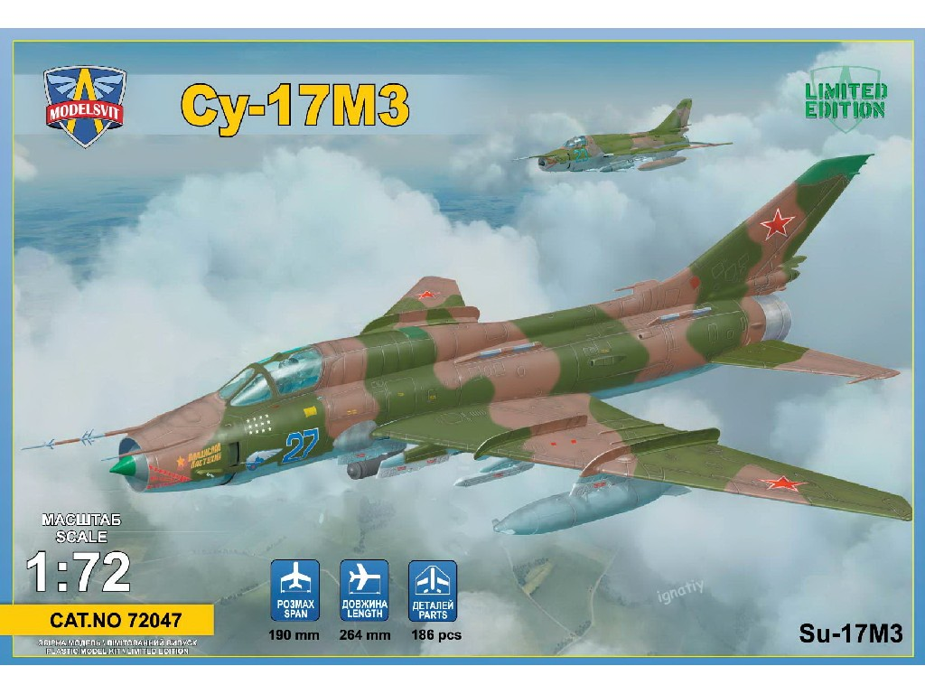 1/72 Sukhoi Su-17M3 Advanced fighter-bomber (3 camos)