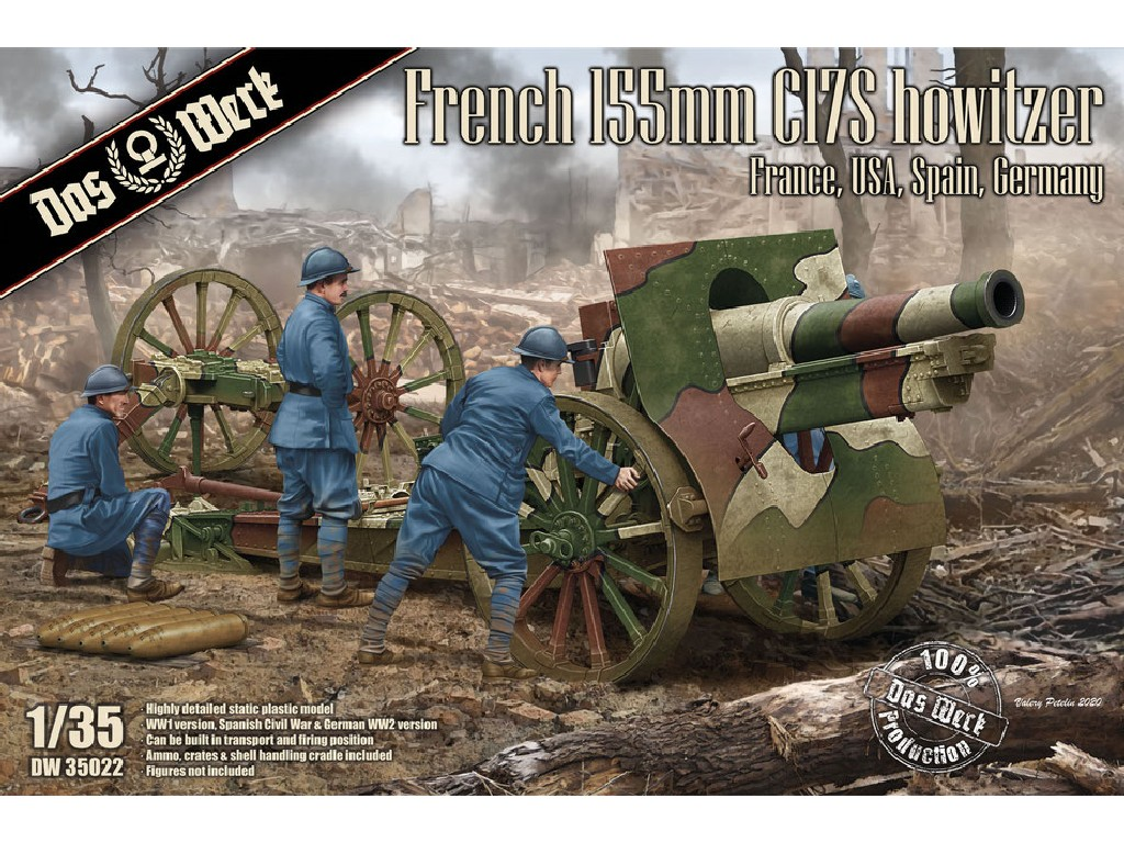1/35 French Schneider 155mm C17S howitzer France, USA, Spain, Germany - Das Werk