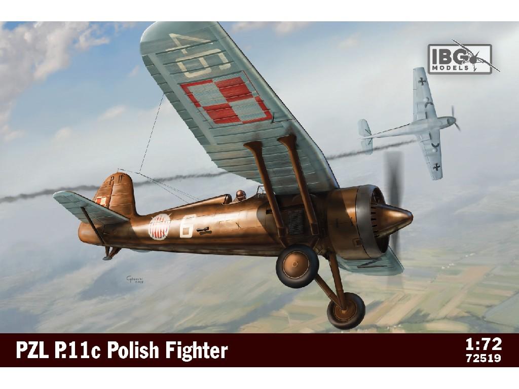 1/72 PZL P.11c Polish Fighter Plane - IBG