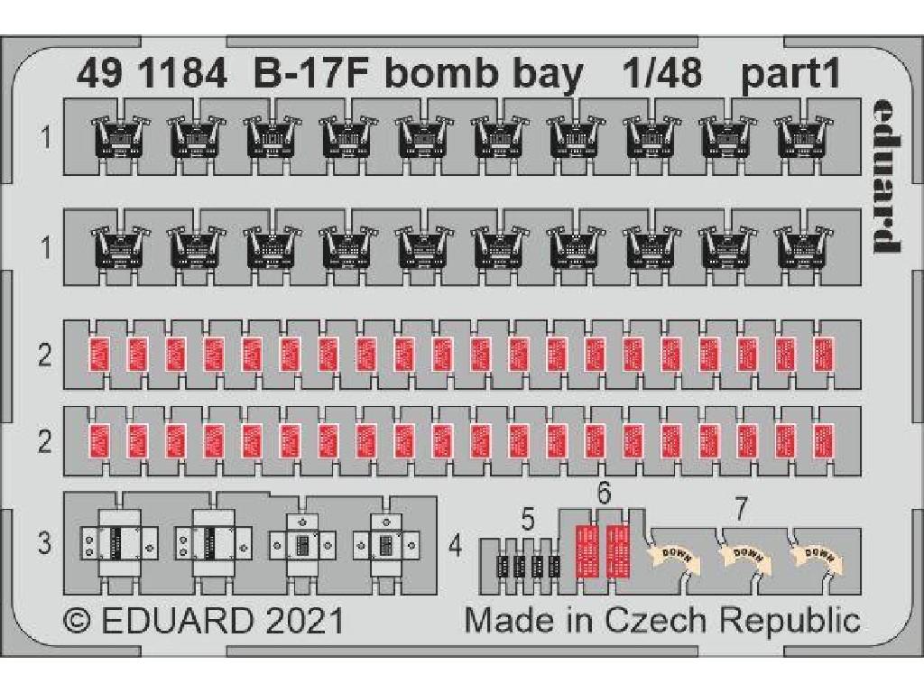 1/48 B-17F bomb bay for HKM kit