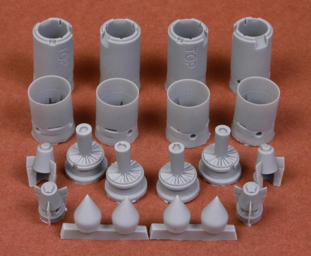 1/48 B-58 Hustler seamless engine intakes for Revell/Monogram kit