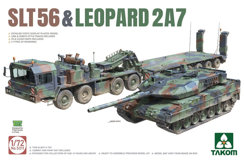 1/72 2 kits Combo SLT56 + Leopard 2 A7 - Takom