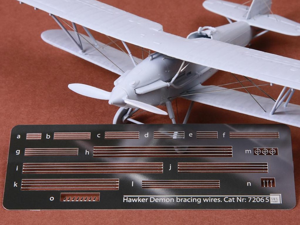1/72 Hawker Demon rigging wire set for Airfix kit