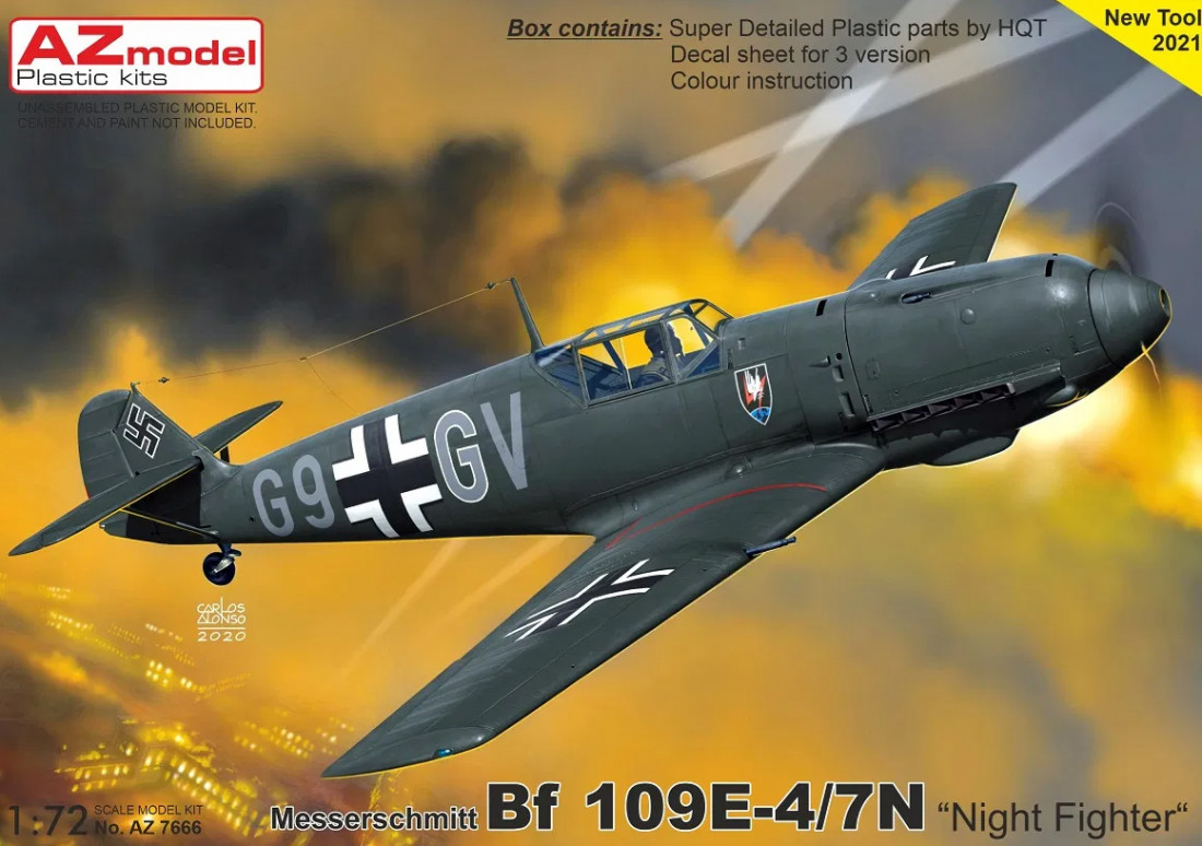 "1/72 Bf 109E-4/7N ""Night Fighter"""