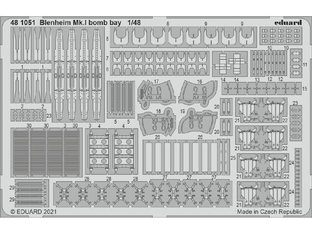 1/48 Blenheim Mk.I bomb bay for AIRFIX kit